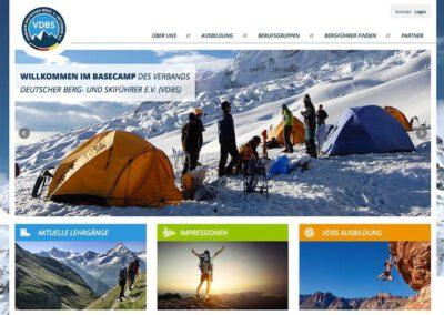 Verband Deutscher Berg- und Skiführer e.V. (VDBS) – Relaunch Website